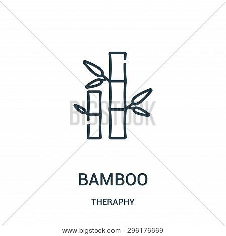 Bamboo Icon Isolated On White Background From Theraphy Collection. Bamboo Icon Trendy And Modern Bam