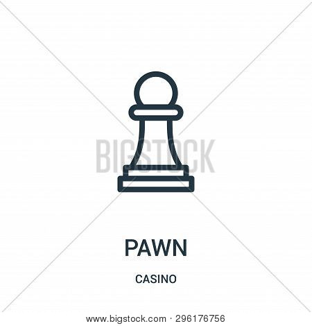 Pawn Icon Isolated On White Background From Casino Collection. Pawn Icon Trendy And Modern Pawn Symb