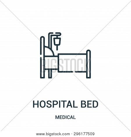 Hospital Bed Icon Isolated On White Background From Medical Collection. Hospital Bed Icon Trendy And