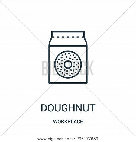 Doughnut Icon Isolated On White Background From Workplace Collection. Doughnut Icon Trendy And Moder