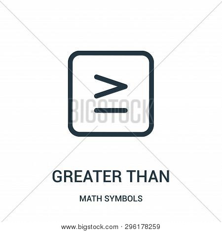 Greater Than Icon Isolated On White Background From Math Symbols Collection. Greater Than Icon Trend