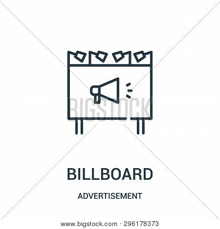 Billboard Icon Isolated On White Background From Advertisement Collection. Billboard Icon Trendy And