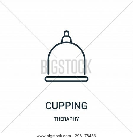 cupping icon isolated on white background from theraphy collection. cupping icon trendy and modern cupping symbol for logo, web, app, UI. cupping icon simple sign. cupping icon flat vector illustration for graphic and web design. poster