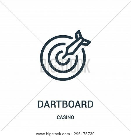 Dartboard Icon Isolated On White Background From Casino Collection. Dartboard Icon Trendy And Modern