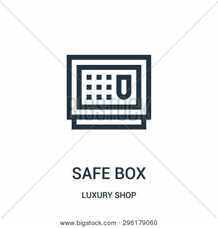 Safe Box Icon Isolated On White Background From Luxury Shop Collection. Safe Box Icon Trendy And Mod