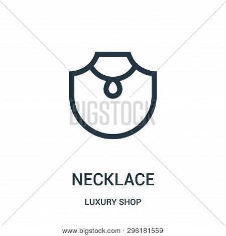 Necklace Icon Isolated On White Background From Luxury Shop Collection. Necklace Icon Trendy And Mod
