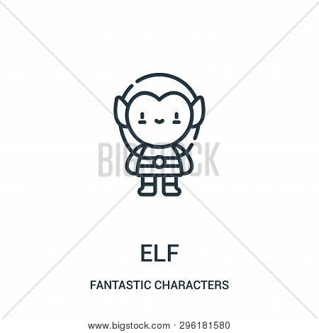 Elf Icon Isolated On White Background From Fantastic Characters Collection. Elf Icon Trendy And Mode