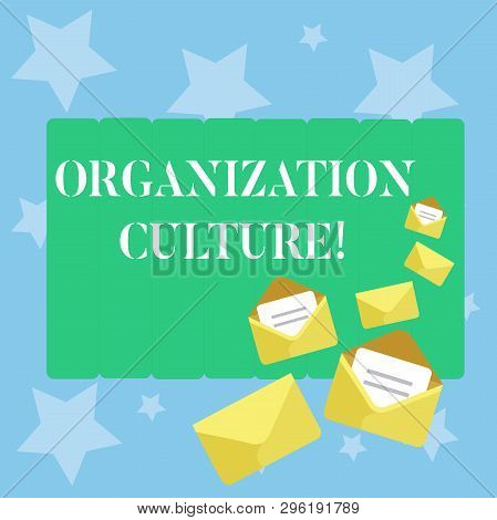 Handwriting Text Writing Organization Culture. Concept Meaning Social And Psychological Environment