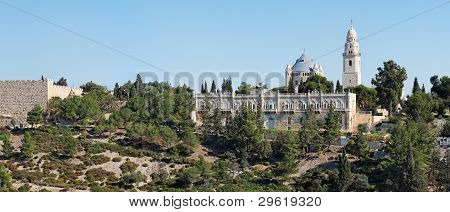Church of Hagia Maria Sion abbey in the Old City of Jerusalem