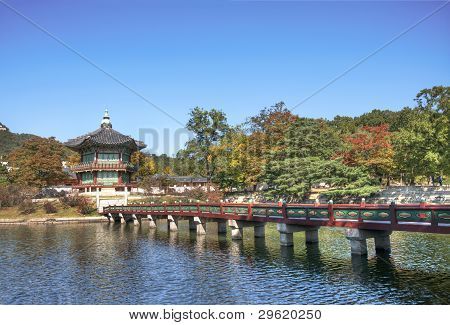 The Emperor Palace, one of the main breath taking scenery in Gyeongbokgung palace poster