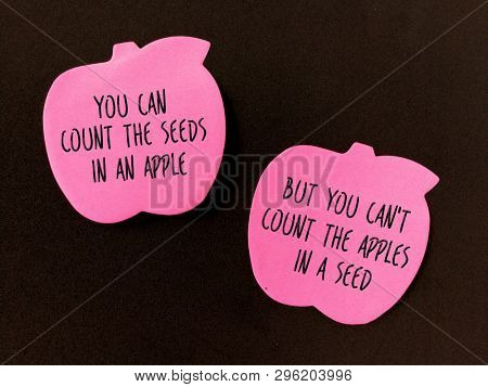 Quotes on apple and seeds