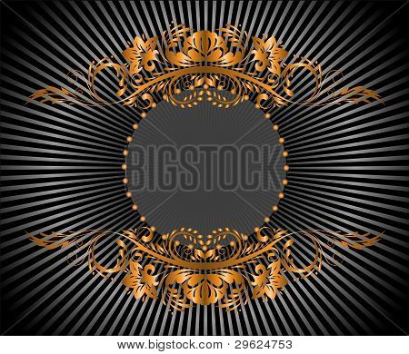 Circular Gilt Frame