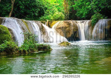 Chet Sao Noi Waterfall In Khao Yai National Park, Saraburi Province, Thailand.