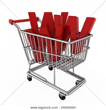 Ilustración 3D representación de E-commerce