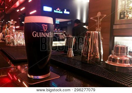 Kuala Lumpur, Malaysia, Appril 18, 2019: Guinness Is An Irish Dry Stout That Originated In The Brewe