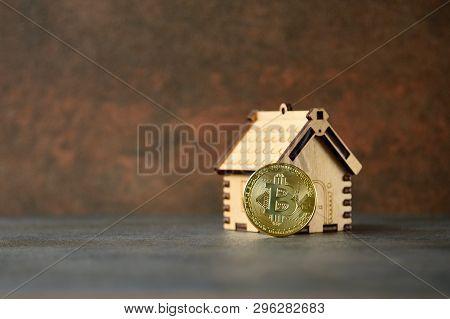 Crypto Currency Gold Bitcoin - Btc - Bit Coin.