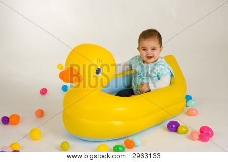 Baby In Rubber Duck