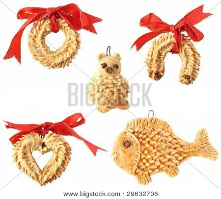 Detail Of Christmas Decorations Isolated