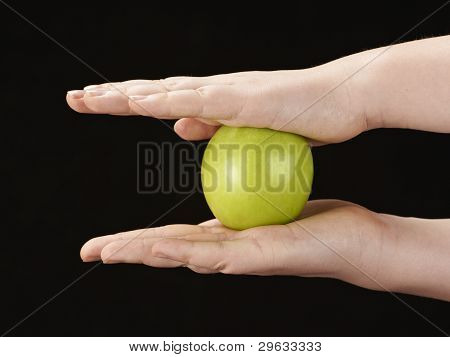 Childs hands with apple