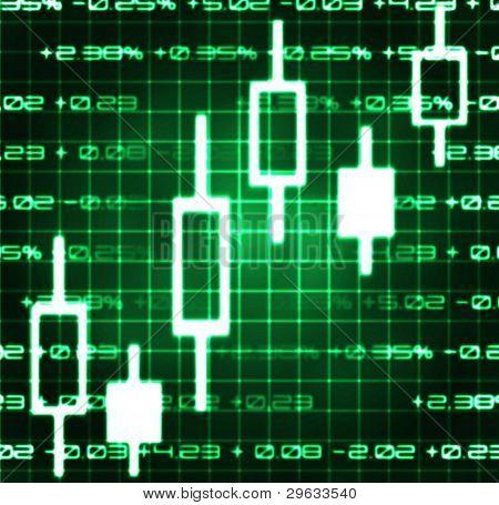 Stock Market Exchange Japanese Candles