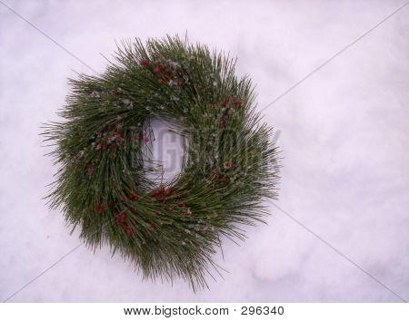 Wreath On Snow