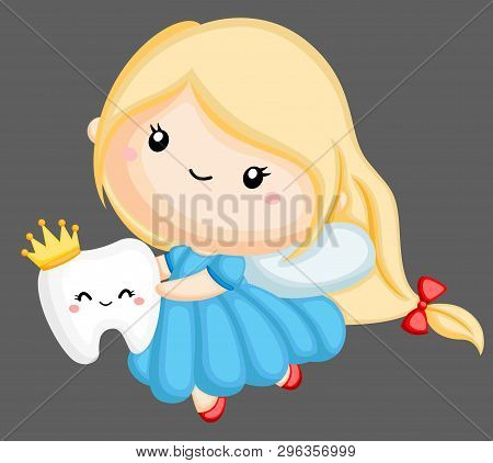 A Vector Of A Tooth Fairy Holding A Tooth