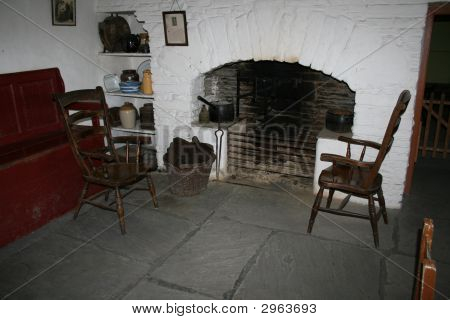Old Cottage Fireplace