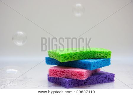 Sponges with bubbles