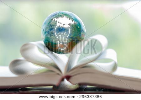 Concept Of Reading Thinking Innovation Knowledge Education Future. Graduated Creative With Light Bul