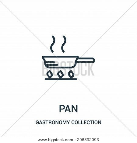 Pan Icon Isolated On White Background From Gastronomy Collection. Pan Icon Trendy And Modern Pan Sym