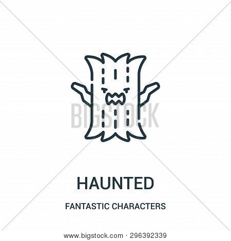Haunted Icon Isolated On White Background From Fantastic Characters Collection. Haunted Icon Trendy