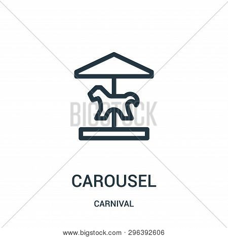 Carousel Icon Isolated On White Background From Carnival Collection. Carousel Icon Trendy And Modern