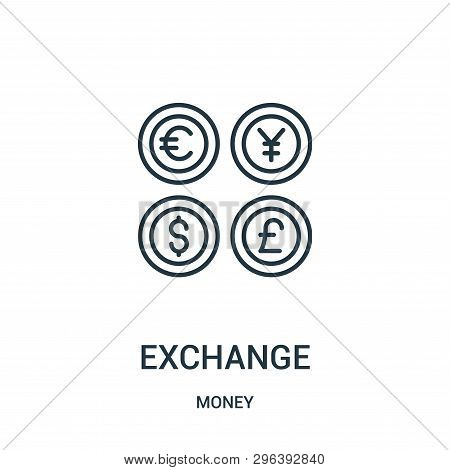 Exchange Icon Isolated On White Background From Money Collection. Exchange Icon Trendy And Modern Ex