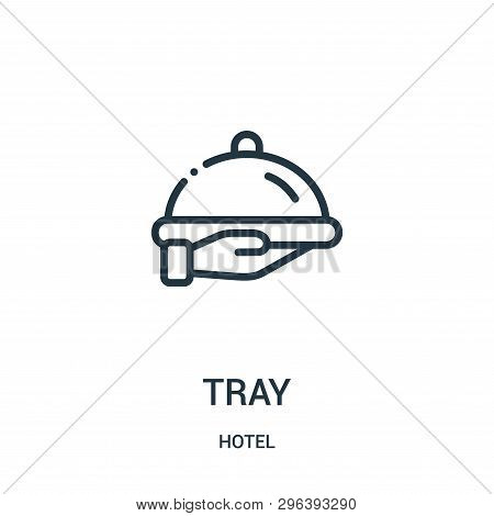 Tray Icon Isolated On White Background From Hotel Collection. Tray Icon Trendy And Modern Tray Symbo