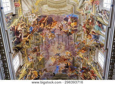 Sant Ignazio Church Ceiling Frescoe, Rome, Italy