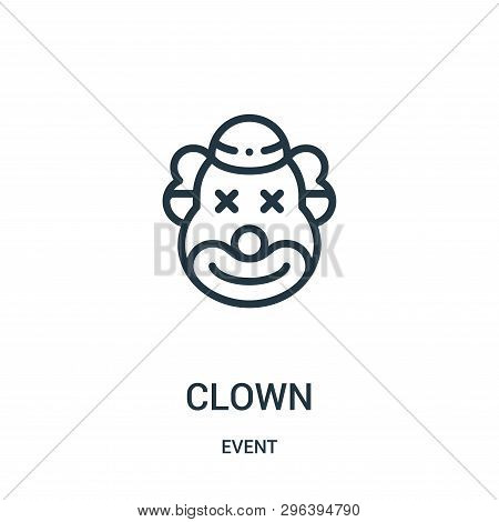 Clown Icon Isolated On White Background From Event Collection. Clown Icon Trendy And Modern Clown Sy