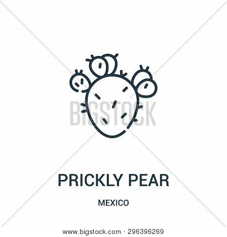 Prickly Pear Icon Isolated On White Background From Mexico Collection. Prickly Pear Icon Trendy And