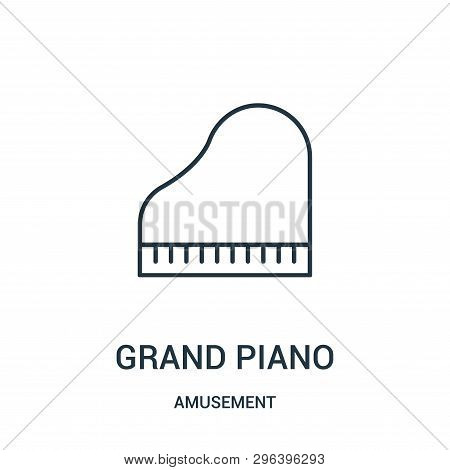 Grand Piano Icon Isolated On White Background From Amusement Collection. Grand Piano Icon Trendy And