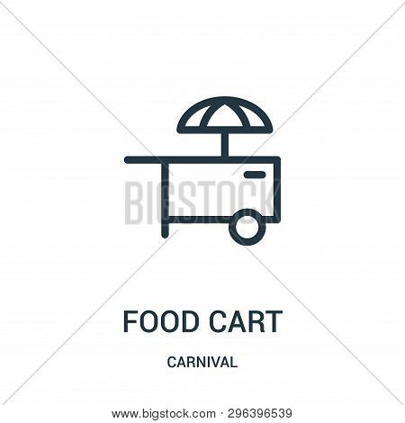 Food Cart Icon Isolated On White Background From Carnival Collection. Food Cart Icon Trendy And Mode