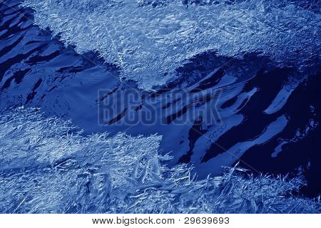 ice crystals and water in the wild north china poster