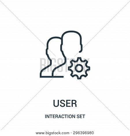 User Icon Isolated On White Background From Interaction Set Collection. User Icon Trendy And Modern