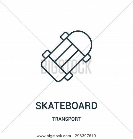 Skateboard Icon Isolated On White Background From Transport Collection. Skateboard Icon Trendy And M
