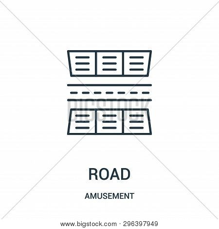 Road Icon Isolated On White Background From Amusement Collection. Road Icon Trendy And Modern Road S