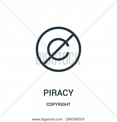 Piracy Icon Isolated On White Background From Copyright Collection. Piracy Icon Trendy And Modern Pi
