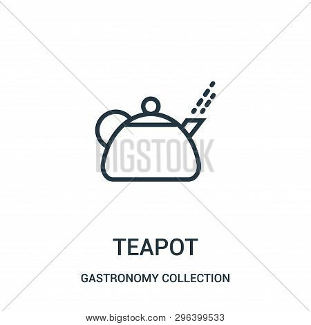Teapot Icon Isolated On White Background From Gastronomy Collection. Teapot Icon Trendy And Modern T