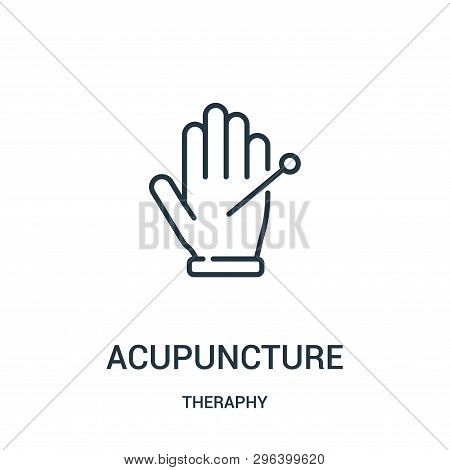 Acupuncture Icon Isolated On White Background From Theraphy Collection. Acupuncture Icon Trendy And