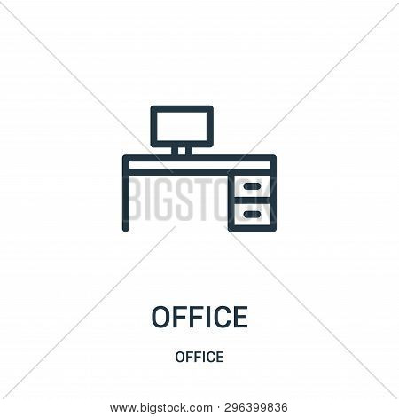 Office Icon Isolated On White Background From Office Collection. Office Icon Trendy And Modern Offic