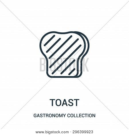 Toast Icon Isolated On White Background From Gastronomy Collection. Toast Icon Trendy And Modern Toa