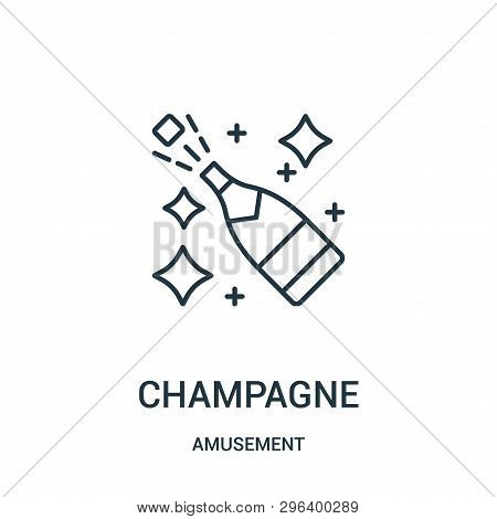 Champagne Icon Isolated On White Background From Amusement Collection. Champagne Icon Trendy And Mod