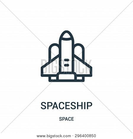 Spaceship Icon Isolated On White Background From Space Collection. Spaceship Icon Trendy And Modern